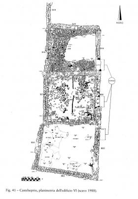 La pianta dell'edificio VI