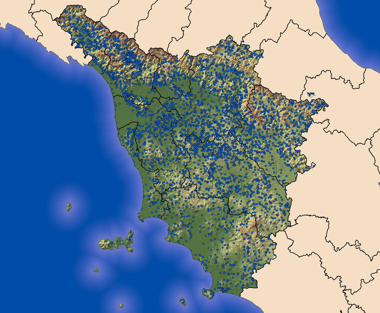 Cartina Geografica Della Toscana.La Scala Macro Del Contesto Toscano Modello Continuista E Geografia Del Potere Castello Di Miranduolo