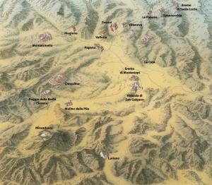 Territorio di Chiusdino: emergenze monumentali di origine medievale
