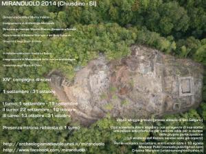 XIV campagna di scavo del castello di Miranduolo (1 settembre - 31 ottobre 2014)