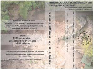 XIII campagna di scavo (Miranduolo 2013)