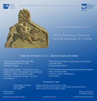 Presentazione del volume 7 del Notiziario della Soprintendenza ai Beni Archeologici della Toscana