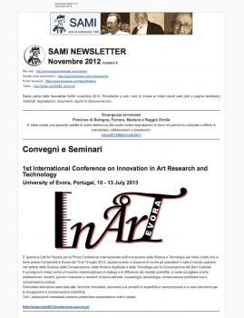 SAMI Newsletter - novembre 2012