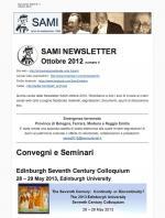 SAMI Newsletter - ottobre 2012