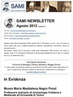 SAMI Newsletter - agosto 2012