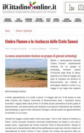 Umbro Flumen e le ricchezze delle Crete senesi