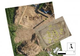 Vista GIS delle sepolture rinvenute nel corso delle ultime campagne di scavo