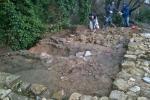 Lo scavo dell'Ambiente 5 nella porzione nord-ovest di Area 1